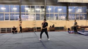 J step Swing training session